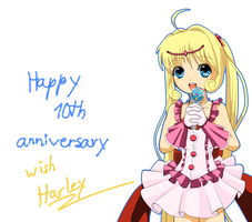 Happy 10th anniversary Mermaid Melody (Anime) by Harley-Chaplin