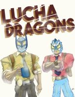 Lucha Dragons by windserpent