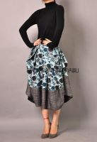 Blue Victorian Pleated Skirt 8 by yystudio