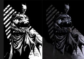 Dark Knight coloring sample by adhytcadelic