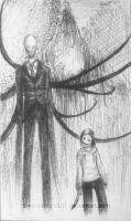 Slenderman and Jeff by SwordKnight131