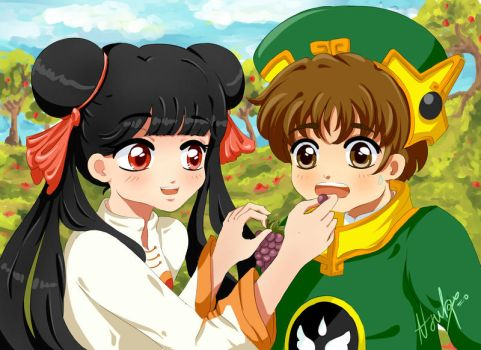 Yummy! Meiling and Syaoran by Atsuky