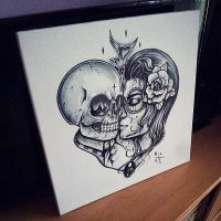 SKULL LOVE WALL by EdwardMiller