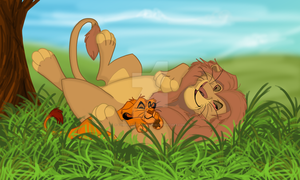 Mufadi - Father son bonding time by Cynderthedragon5768