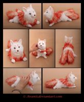 SOLD Plushie: Fire Kitsune by Avanii