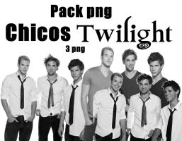 Pack png chicos twilight by Carol05