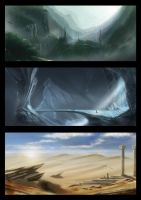 valley cave desert by korfali