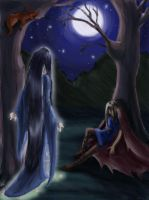 Luthien and Beren WIP by nienor