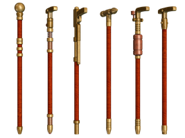 Steampuunk Canes PNG Stock by Roys-Art