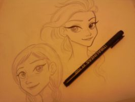 Drawing to Frozen fanart by cavaferdi by CAVAFERDI
