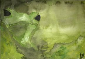 Frog in Green by ashkara2001