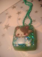 kitty cube pendant by leggsXisXawsome