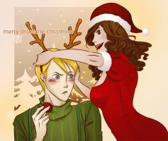 Merry Dramione Christmas! by malena-sama