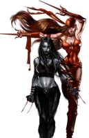 elektra and x23 party by BrianFajardo
