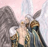 Abaddon and Azrael by anawind