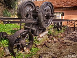 Section of old watermill in Edessa I by BillyNikoll