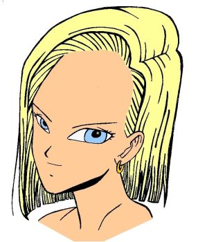 Android 18 Headshot by chaoswolf1982