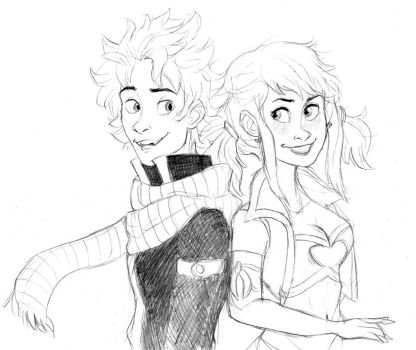 natsu and lucy by thepacksurvives