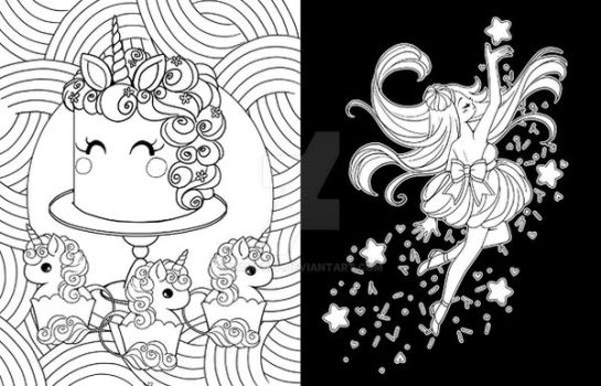 Even even more more coloring book WIPs by YamPuff