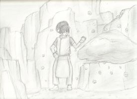 Toph - Training by anime-halo