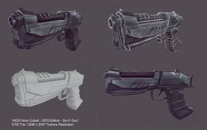 Deagle - 2070 Edition - Sci Fi Gun (Game Prop) by mhofever