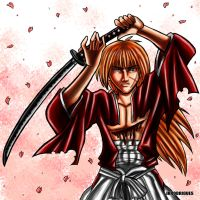 Battousai - Himura Kenshin - colored by Junior-Rodrigues