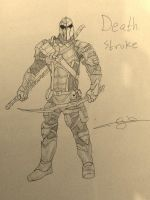 Deathstroke (my first shading) by Ojanassassin