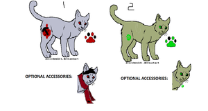 Cat Adoptables {1/2 OPEN} by AvalaAdopts