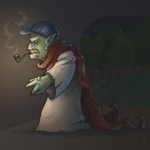 The Old Troll under the Bridge by LittleGreyDragon