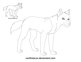 Free Wolf Lineart by northstar2x