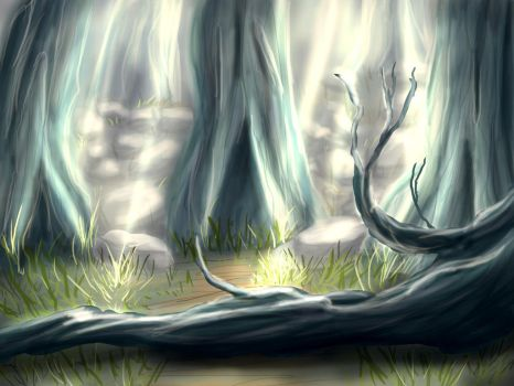 Forest Background by MadsMadnessRage