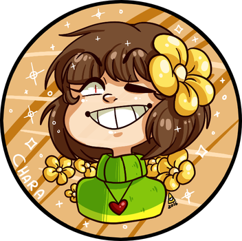 Chara Badge design. by G-il