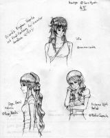 Friend's FC sketches by PastaSan44444