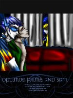 Sam and optimus prime by SeCrEtFeTiShEs