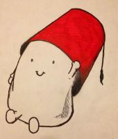 Adipose with Fez by BloodfangTheGreen