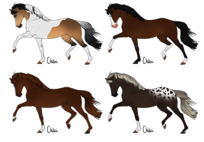 Realistic Point Adoptables [fundraiser] - OPEN by xxElanite