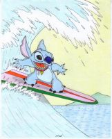 Stitch's  surfing  time by fredvegerano
