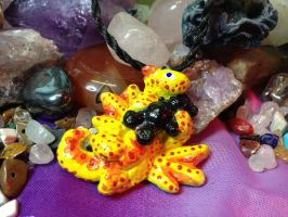 Yellow Teddy Bear Dragon by SonsationalCreations