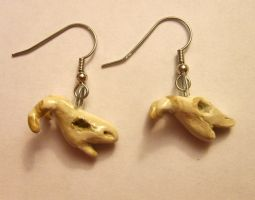 Dragon Skull Earrings Ver 1 by AerithHojo