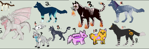 Found Adoptables OPEN by Aliyah-Adopt
