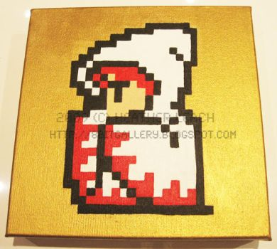 Final Fantasy White Mage by 8bitgallery