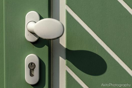 Green Door by AkitoPhotography