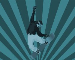 vector snowboarder by HugoH