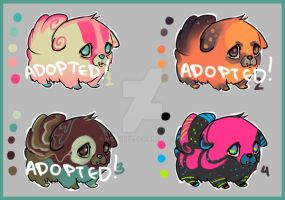 Silly puppies Adoptables (CLOSED) by miloudee