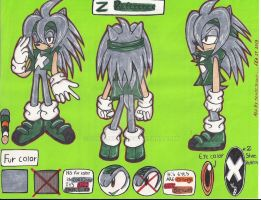 Z THE HEDGEHOG REFERENCE SHEET by SONICJENNY