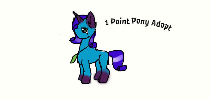 1 Point Pony Adopt by Dark-Fang-The-Dragon