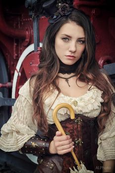 Steampunk. Alexandra . train by Allsteam