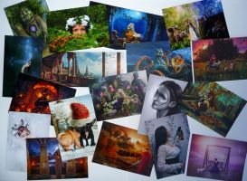DA Contest Postcards offered to winning artists by Art-and-books