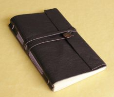 Leather Journal - Purple with Tree of Life by GatzBcn