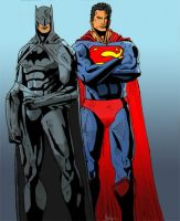 Batman and Superman by DjMerlyn